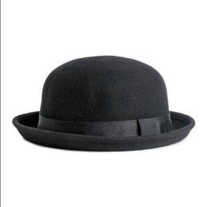 NWOT! Black Wool Bowler Hat